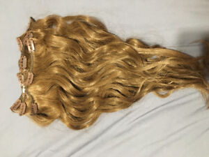 "Hair Extensions 16"" Light Brown - Clip Ins"