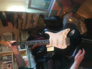 Fender guitar and amplifier