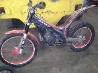 Gas gas 250 txt pro trials bike 2007 black