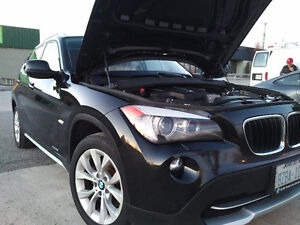 2012 BMW X1 MIDNIGHT BLACK OVER RED LEATHER INT SUV, Crossover