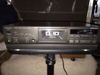 Technics Cassette Deck & Sony Mini Disc recorder