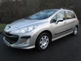 08/58 PEUGEOT 308 1.6 HDI S SW IN MET GREY WITH 70,000 MILES AND SERVICE HISTORY