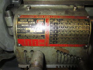 SOUTH BEND METAL LATHE - $1,300.00