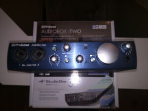 PreSonus Audiobox iTwo - Audio Interface.  Mint condition.