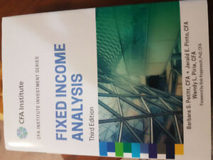 Fixed Income Analysis 3rd Edition Textbook CFA Institute