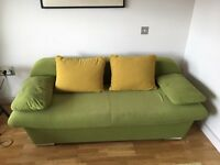 3 seater sofa bed with storage in very good condition £100 ONO