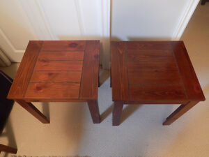 Brown end table set - Moving Sale