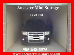 Winter Car storage available at Ancaster Mini Storage.