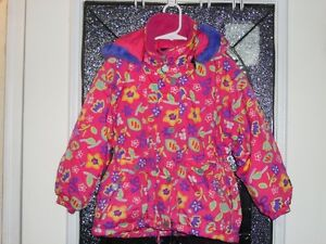 Jupa Sports - Fushia Floral Winter Jacket size  5 Kitchener / Waterloo Kitchener Area image 1