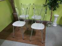 Set Of 4 Silver Chairs - Can Deliver For £19