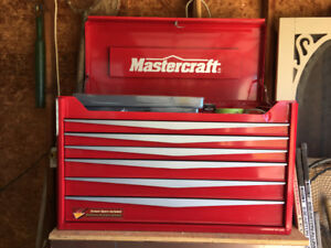 Mastercraft 6 drawer tool box with top storage, Brand new
