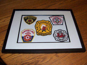 Framed NS Fire Dept Badges