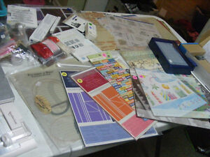 Scrapbook and card making supplies garage sale Prince George British Columbia image 5