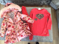 Le chic baby girls coat and dress outfit eu 98 age 3 but more like age 2 small make