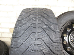 GREAT DEAL! - 4 good snow tires with steel rims Kitchener / Waterloo Kitchener Area image 3