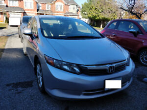 2012 Honda Civic LX (undecoat, winter tires and rims instatalled