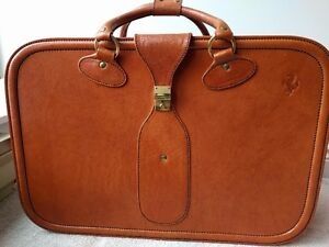 Authentic Ferrari Leather Luggage - True collectors' item, rare