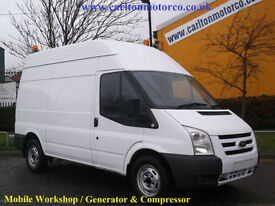 2009 Ford Transit 140T350m [ Mobile Workshop Compressor+Generator ] van Low