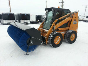 "New 84"" Hydraulic Angling Sweeper Attachment For Skid Steers"