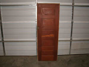 Solid wood 5 panel door with frame