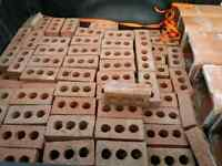 Bark style red clay bricks and 5 flues