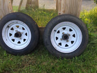 two trailer tires
