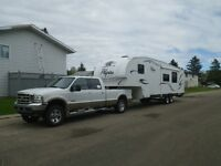 Truck and Fifth wheel for sale.