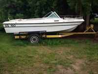 16' Trihull Boat and Trailer $499