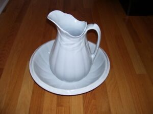 Bowl and Pitcher