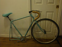 57cm Bianchi Quattro Columbus Cromor fixed gear/fixie