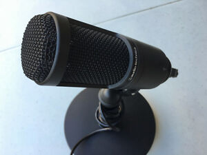 Audio-Technica AT2020 USB microphone and stand
