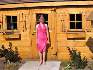 Pink Sparkly Halter Dress