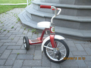 Leader Brand Tricycle - red and white metal