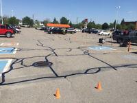 Colmatage de fissures d'asphalte à chaud