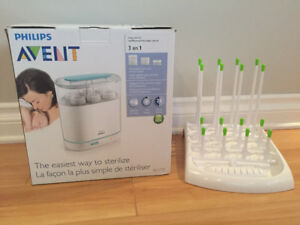 Avent electric sterilizer and drying rack
