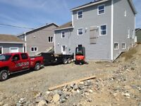 Stone delivery, excavation, landscaping, fences