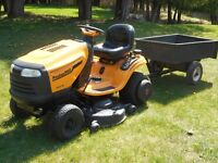 Yard Tractor//Lawn Mower with trailor