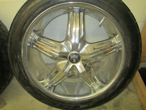 "Dub Rims 20"" x 8.5"" with Nitto NT420 Tires"
