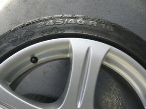 245 40 R18 97V Winter Tires and Mercedes Rims
