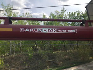 """Sakundiak grain auger 10""""x52ft,with Hawes mover"""
