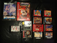 Jeux de sega genesis.NBA JAMS,power rangers, x-men et +++