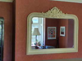 Ornate French country style overmantle mirror