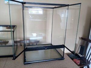 PRICE DROP: Assorted Glass Terrariums & Reptile Accessories