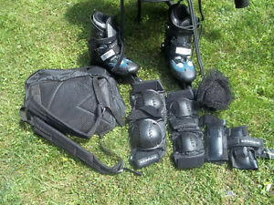 New Roller Blades - Protection pades & carring bags