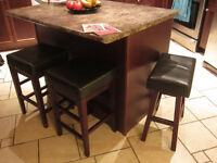 3 Leather Bar Stools all for $30