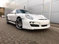 "2007 57 Reg Porsche Cayman 2.7 White + Bodykit + Sat Nav + 19"" Turbo Alloys"