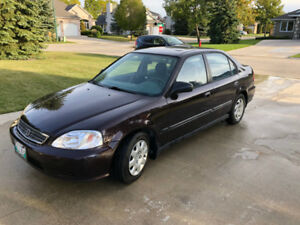 2000 HONDA CIVIC - LOW KMS, NEW TIRES