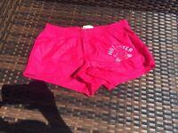 Pink Hollister summer running shorts size small