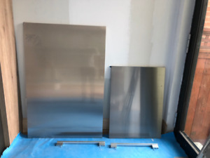 Miele Stainless Fridge and Freezer Doors