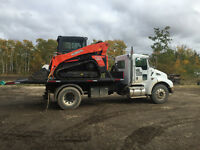 Snow removal, tracked skid steer service, & excavating